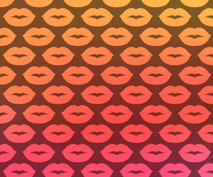 wallpaper, lips, and kiss image