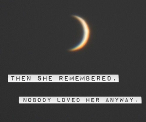 dark, moon, and quote image
