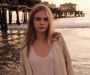 cara delevingne, model, and beach image