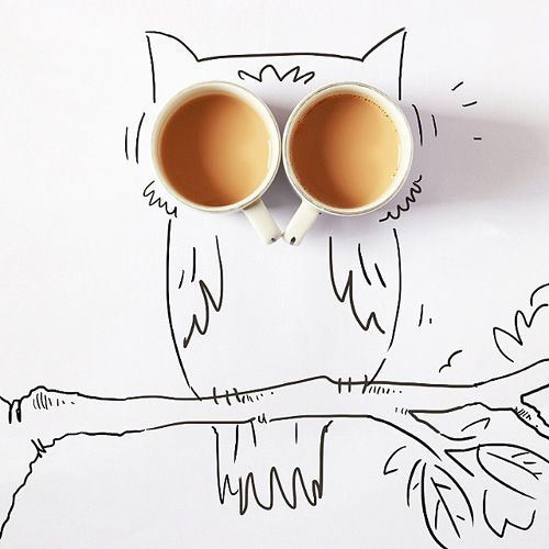 art, coffee, and drink image