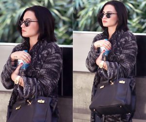 airport, black hair, and candid image
