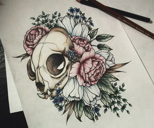 art, cool, and flowers image
