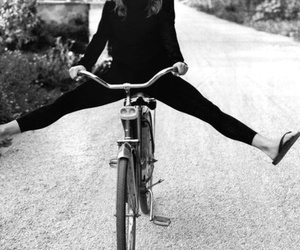 Jennifer Aniston, bike, and black and white image