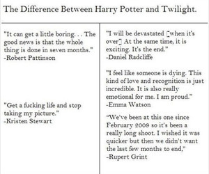 harry potter, twilight, and twilight sucks image