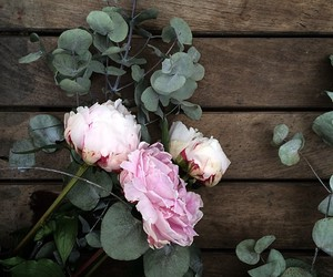 flowers, pink, and rustic image