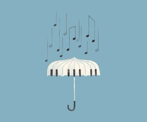 music, piano, and rain image