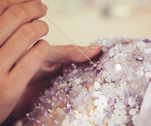 crystals, sewing, and handmade image