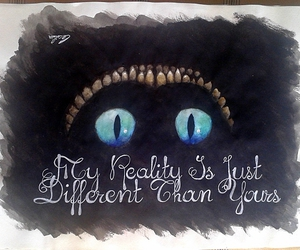 art, Cheshire cat, and drawing image