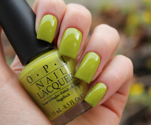 nails, green, and opi image