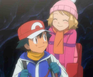 anime, ash, and serena image