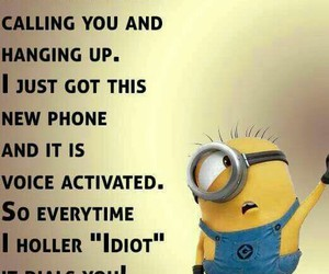 call, minion, and funny image