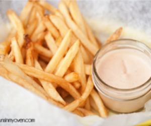 food, sauce, and French Fries image