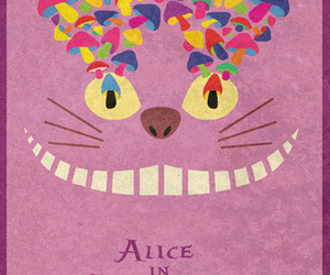 alice in wonderland, cat, and disney image