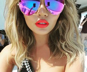 lips, sunglasses, and summer image