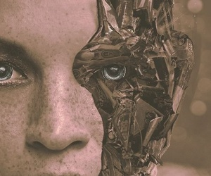 cyberpunk, eyes, and face image