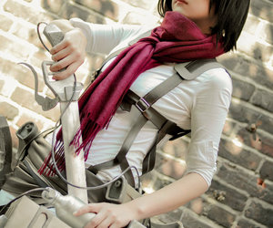 cosplay, shingeki no kyojin, and mikasa ackerman image