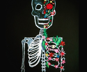 art, black, and bones image