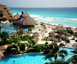 beach, mexico, and summer image