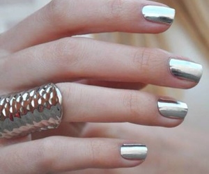 fashion, metallic, and nails image