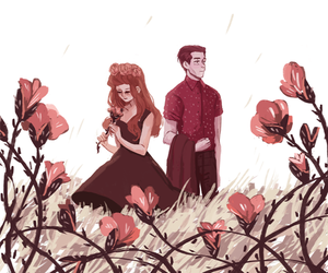 flowers, hades, and persephone image