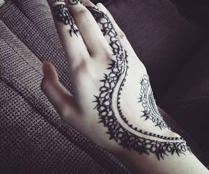 art, hands, and henna image