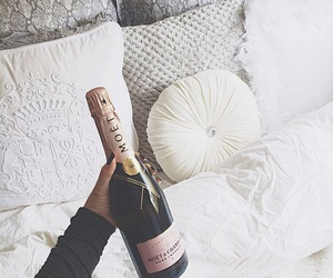 bed, white, and moet image