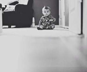 baby, beautiful, and black and white image