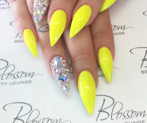bling, girly, and yellow image