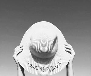 sun, beach, and hat image