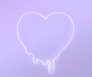 heart, neon, and light image