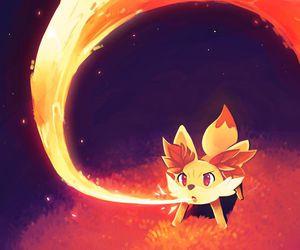pokemon, fennekin, and fire image