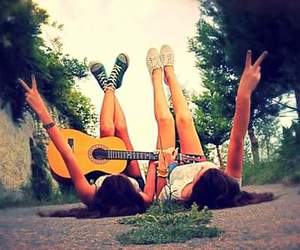 guitar, pics, and friendship goals image