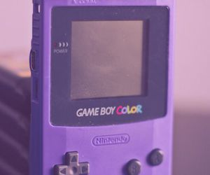purple, gameboy, and color image