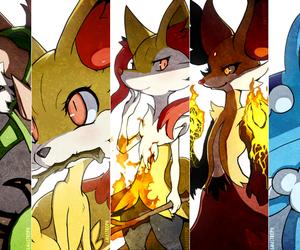 pokemon, fennekin, and chespin image