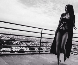 kylie jenner, black and white, and kylie image