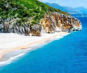 beach, europe, and sand image