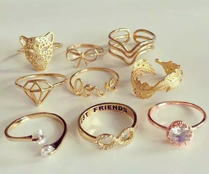 rings, gold, and ring image
