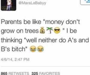 funny, money, and parents image