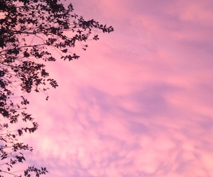 pink sky, summer, and no filter image