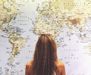 travel, girl, and world image