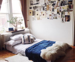 bed, photography, and decoration image