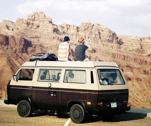 travel, van, and friends image