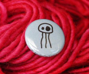 button, jellyfish, and pinback image