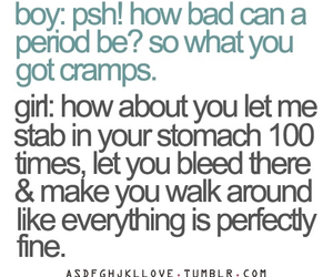 period, cramps, and funny image