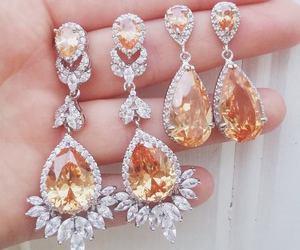 earrings, jewelry, and girl image