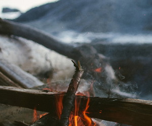 fire, nature, and indie image