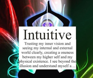 intuitive, third eye, and inner peace image