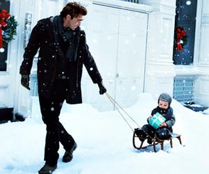 baby, christmas, and snow image