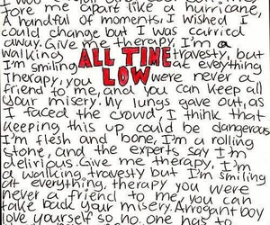 all time low, band, and lyric image