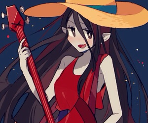 at, marceline, and adventure time image